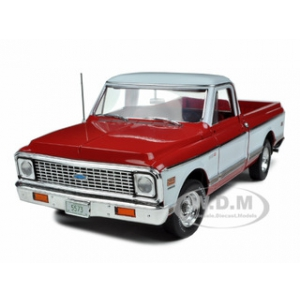 1972 Chevrolet C-10 Cheyenne Pickup Truck Red/White 1 of 576 Produced Worldwide 1/18 Diecast Model Car by Highway 61