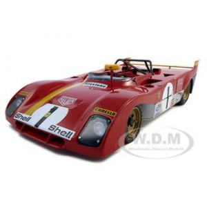 1972 Ferrari 312PB 1 Regazzoni/Ickx Monza 1/18 Diecast Car Model by GMP