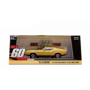 "1973 Ford Mustang Mach 1 Yellow ""Eleanor"" ""Gone in Sixty Seconds"" Movie 1974 1/43 Diecast Model Car by Greenlight"