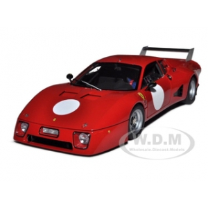 1979 Ferrari 512BB LM 0 Red Press Car 1/18 Diecast Car Model by BBR