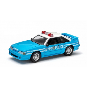 1987 Ford Mustang NYPD 1/64 Diecast Car Model by Greenlight