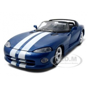 1997 Dodge Viper RT/10 Blue 1/24 Diecast Model Car by Maisto