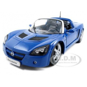 2001 Opel Speedster Blue 1/18  Diecast Car by Welly