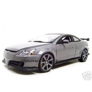 2003 Honda Accord Custom Tuner Grey 1/18 Diecast Model by Motormax