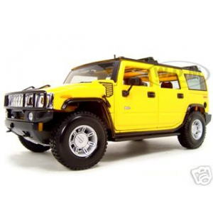 2003 Hummer H2 SUV Yellow 1/18 Diecast Model Car by Maisto
