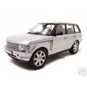 2003 Land Rover Range Rover Silver 1/18 Diecast Car by Welly