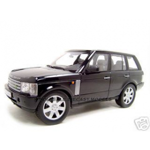 2003 Range Rover Black 1/18 Diecast Car Model by Welly