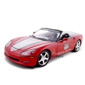 2005 Chevrolet Corvette C6 Indy 500 Pace Car  Red 1/24 Diecast Model Car by Greenlight