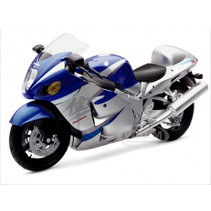 2005 Suzuki GSX-R1300R Hayabusa Blue Bike Motorcycle 1/12 by New Ray