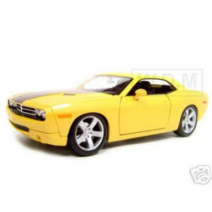 2006 Dodge Challenger Concept Yellow 1/18 Diecast Model Car by Maisto