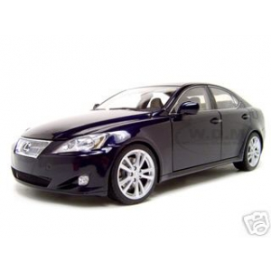 2006 Lexus IS 350 Blue 1/18 Diecast Model Car by Autoart