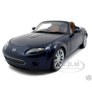 2006 Mazda MX-5 Roadster Stormy Blue Japanese Version 1/18 Diecast Model Car by Autoart