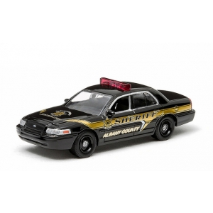 2008 Ford Crown Victoria Police Interceptor Albany County New York Sheriff Police Car 1/64 Diecast Model Car by Greenlight