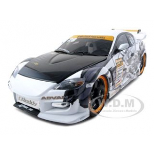2008 Mazda RX-8 Drifting 28 1/18 Diecast Model Car by Norev