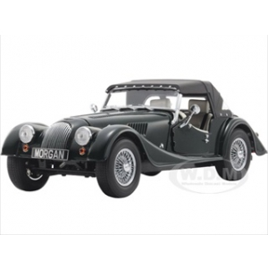 2008 Morgan 4/4 Sport Classic British Green with Tan Interior and Removable Black Top 1/18 Diecast Model Car by Kyosho
