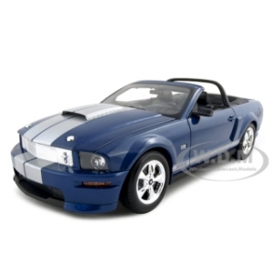 2008 Shelby Mustang GT Convertible Blue 1/18 Diecast Car Model by Shelby Collectibles
