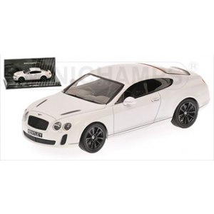 2009 Bentley GT Supersports Satin White  Limited Edition 1 of 1296 Produced Worldwide 1/43 Diecast Model Car by Minichamps