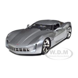 2009 Chevrolet Corvette Stingray Concept Silver 1/18 Diecast Car Model by Jada
