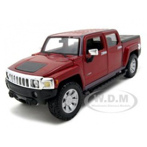 2009 Hummer H3T Red 1/26 Diecast Model Car by Maisto