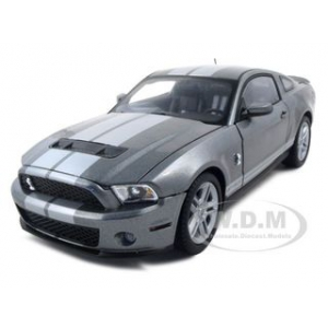 2010 Shelby Mustang GT500 Gray 1/18 Diecast Model Car by Shelby Collectibles