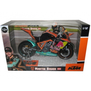 "2011 KTM 1190 RC8R IDM Martin Bauer 45 ""Red Bull"" Motorcycle Model 1/12 by Automaxx"