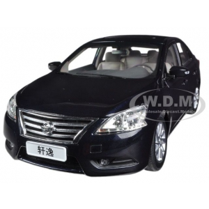 2012 Nissan Sylphy Sentra Black 1/18 Diecast Car Model by Paudi