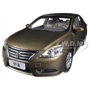 2012 Nissan Sylphy Sentra Gold 1/18 Diecast Car Model by Paudi