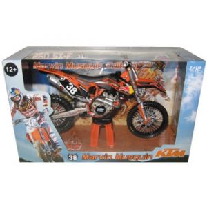 2012 Red Bull KTM 250 SX-F Marvin Musquin 38 Dirt Motorcycle Model 1/12 by Automaxx