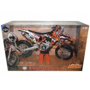 2012 Red Bull KTM 350 SX-F Antonio Cairoli 222 Dirt Motorcycle Model 1/12 by Automaxx