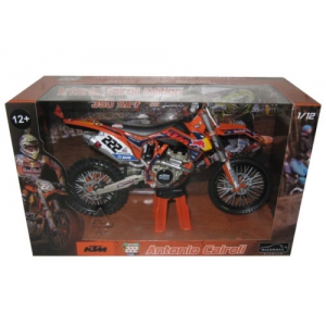 2013 Red Bull KTM 350 SX-F Antonio Cairoli 222 Dirt Motorcycle Model 1/12 by Automaxx