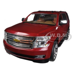 2015 Chevrolet Tahoe LTZ in Crystal Claret Tintcoat red with Cocoa / Saddle Brown Interior 1/24 by Norscot