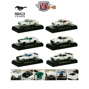 50 Years of Mustang Anniversary Set Of 6 Cars 1/64 Diecast Cars Models by M2 Machines