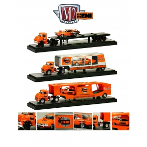 "Auto Haulers Release 14 ""50 Years 426 Hemi"" Anniversary 3 Pieces Set 1/64 Diecast Models by M2 Machines"