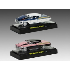 Auto Thentics 1957 Mercury Turnpike 2pc Car Set IN BLISTER PACK 1/64 Diecast Model Cars by M2 Machines
