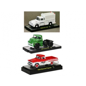Auto Thentics 3 Trucks Set Release 24 WITH CASES 1/64 Diecast Model Cars by M2 Machines