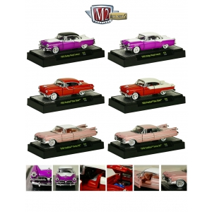 Auto Thentics 6 Cars Set Release 30 IN DISPLAY CASES 1/64 Diecast Car Models by M2 Machines