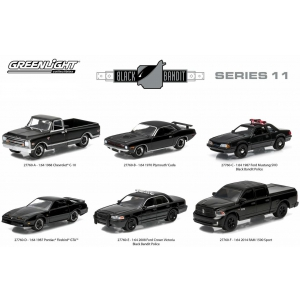 Black Bandit Series 11 6pc set 1/64 Diecast Car Models by Greenlight