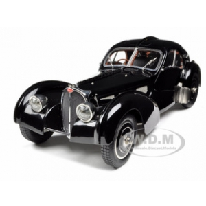 Bugatti Type 57 SC Atlantic Coupe Black Chassis 57.591 1/18 Diecast Model Car by CMC