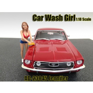 Car Wash Girl Jennifer Figure For 118 Scale Models by American Diorama