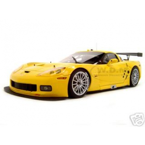 Chevrolet Corvette C6R Plain Body Version Yellow 1 of 3000 Made 1/18 Diecast Model Car by Autoart