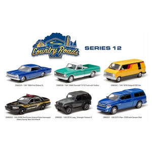Country Roads / Release 12 6pc Diecast Car Set 1/64 Diecast Model Cars by Greenlight
