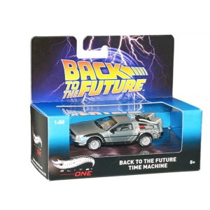 "Delorean Back To The Future ""Time Machine"" Elite 1/50 Diecast Model Car by Hotwheels"