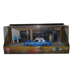 "Diorama ""The Usual Suspects"" Movie 1983 Dodge Diplomat Salon Police Car 1/43 Diecast Model by Motormax"