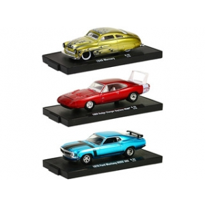 Drivers 3 Cars Set Release 25 WITH CASES 1/64 Diecast Model Cars by M2 Machines