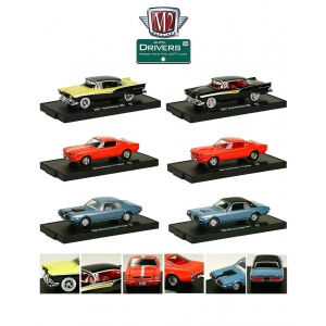 Drivers 6 Cars Set Release 27 In Blister Pack 1/64 Diecast Model Cars by M2 Machines