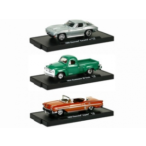 Drivers Release 20 3pc Cars Set WITH CASES 1/64 Diecast Model Cars by M2 Machines