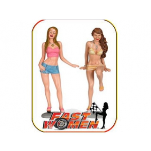 Fast Women Spokemodels 2 Piece Figure Set 1/18 Scale by Motorhead Miniatures