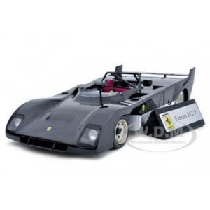 Ferrari 312 P 312P Prototype Black 1/18 Diecast Car Model by GMP