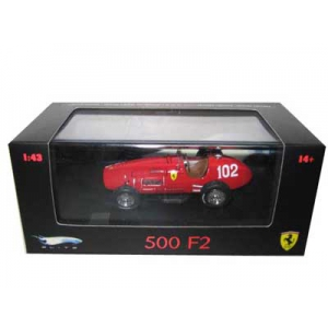 Ferrari 500 F2 Elite 102 Limited Edition 1/43 Diecast Model Car by Hotwheels
