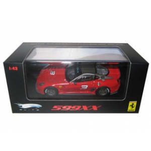 Ferrari 599XX 3 Red Elite Edition 1/43 Diecast Car Model by Hotwheels